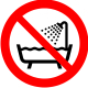 Seadme kasutamine vannitoas või veega kokkupuutumisel keelatud